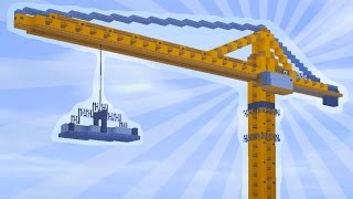 getlinkyoutube.com-How To Build a CONSTRUCTION CRANE in Minecraft (CREATIVE BUILDING)