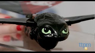 getlinkyoutube.com-DreamWorks Dragons Defenders of Berk Real Flying Toothless from Spin Master