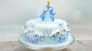 getlinkyoutube.com-Cinderella Princess Birthday Cake