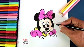 getlinkyoutube.com-Cómo dibujar a Bebe Minnie (Mickey Mouse) | How to draw Baby Minnie Mouse