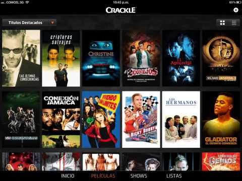 Crackle. Mira tus peliculas y series en tu iphone/ipod/ipad