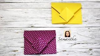 How to make a paper envelope - Origami - วิธีพับซองจดหมายน่ารัก
