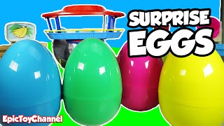 getlinkyoutube.com-GIANT Paw Patrol SURPRISE EGGS At Paw Patrol Look Out Station Paw Patrol Collection Epic Toy Channel