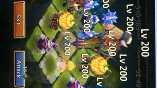 getlinkyoutube.com-Castle Clash Lost Realm LEVEL 200 Heros Highest Level Pack IV SEEN