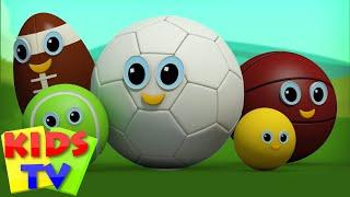 getlinkyoutube.com-sports ball finger family | nursery rhymes | kids songs | childrens videos