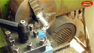 Κατασκευή αποστάτη αλουμινίου σε τόρνο