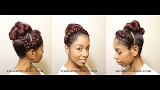 getlinkyoutube.com-Braided Crown Bun