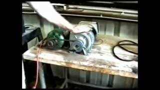 getlinkyoutube.com-3000 Watt Generator Powers Itself, Grinder & Drill Press.