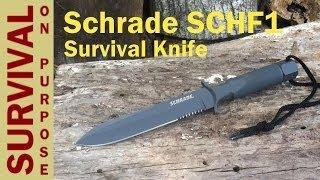 getlinkyoutube.com-Schrade Knives SCHF1 - Best Survival Knife Under $100 ?