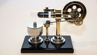 getlinkyoutube.com-Stirling Engine With Magnet Return Stroke And Timelapse Build