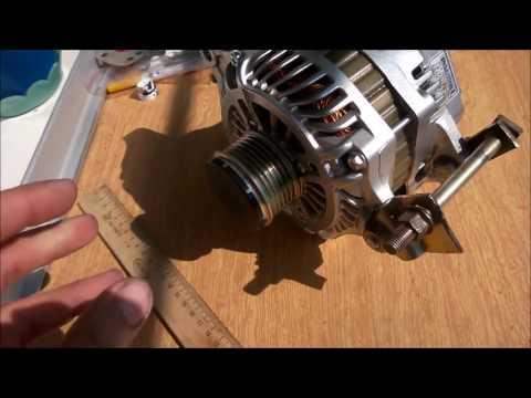 Колхозим генератор от Mitsubishi lancer 10 на Mitsubishi Galant 8 4G63