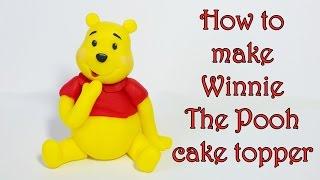 getlinkyoutube.com-How to make Winnie The Pooh cake topper / Jak zrobić figurkę Kubusia Puchatka