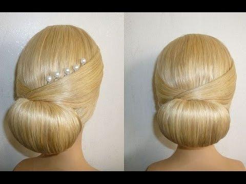 Frisur mit Duttkissen/Dutt.Hochsteckfrisur.Abiballfrisur.Donut Hair Bun Hairstyle.Chignon Donut