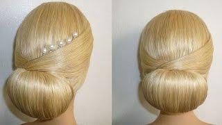 getlinkyoutube.com-Frisur mit Duttkissen/Dutt.Hochsteckfrisur.Abiballfrisur.Donut Hair Bun Hairstyle.Chignon Donut