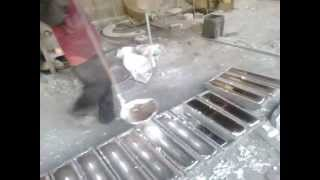 getlinkyoutube.com-Aluminium Ingots Re-Melting Process
