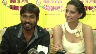Sonam Kapoor & Dhanush Promote 'Raanjhanaa' At Radio Stations