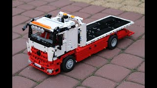 getlinkyoutube.com-LEGO Mercedes-Benz Arocs Flatbed Recovery Truck
