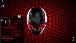 getlinkyoutube.com-Tema + Pack Completo AlienWare Rojo (Red) Para Windows 7