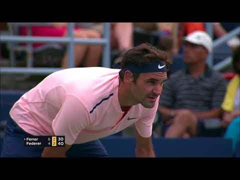 Roger Federer fights off David Ferrer In Montreal