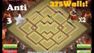 getlinkyoutube.com-Clash of Clans - *NEW UPDATE* EPIC TH10 ANTI-3-STAR WAR BASE! 275 WALLS!