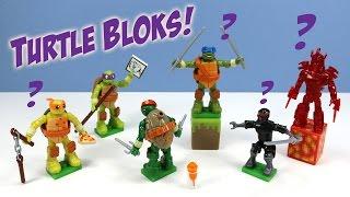 getlinkyoutube.com-Teenage Mutant Ninja Turtles MEGA BLOKS Minifigures Series 1 Mystery Packs Codes