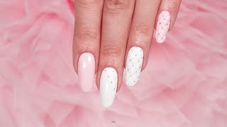 getlinkyoutube.com-Pikowane paznokcie Indigo Nails :: Paznokcie Chanel :: Quilted Nails :: Hybryda Mr. White Gel Polish