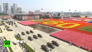 getlinkyoutube.com-Parade pageantry in Pyongyang: N. Korea marks 60 yrs since Korean War armistice