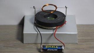 getlinkyoutube.com-How to make a homopolar motor with magnet - diy simple tricks