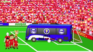 LIVERPOOL DESTROY THE CHELSEA BUS! Liverpool v Chelsea 1-1 442oons Cartoon