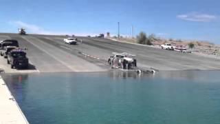 getlinkyoutube.com-Truck rolls in to water Lake pleasant boat launch