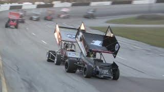 getlinkyoutube.com-Winged Sprint Car Feature Race - Desoto Speedway 2-8-15