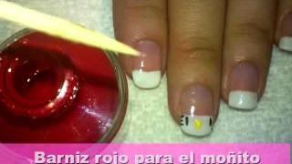 getlinkyoutube.com-Tutorial: Lleva a Hello Kitty en tus uñas