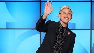 Ellen Charms Her Unexpected Guest