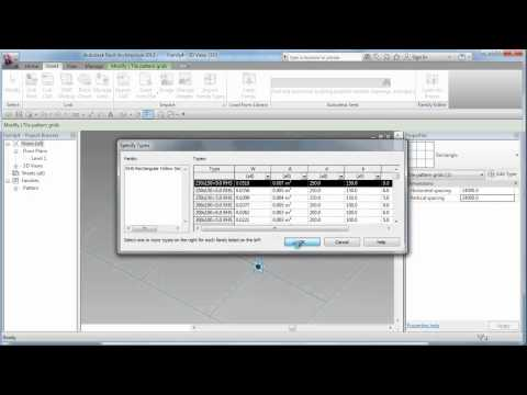 Revit Advanced Conceptual Massing - Diagrid & Gradation