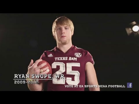 Texas A&M WR Ryan Swope wants your NCAA Football 14 Cover Vote!