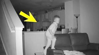 getlinkyoutube.com-لاحظ الأب أن الأبن يستيقظ كل يوم وهو متعب وعندما راقبه بكاميرا مراقبة .. أنظرو ماذا إكتشف