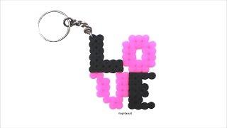 getlinkyoutube.com-DIY: LLAVERO LOVE de hama beads