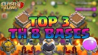 getlinkyoutube.com-Clash Of Clans BEST Town Hall 8 TH8 Defense Strategy FARMING/WAR/TROPHY/HYBRID Base Design 2015