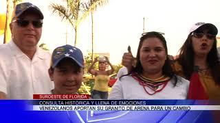 Programa sobre la consulta popular histórica de Venezolanos en Bonita Springs (Blocque B)