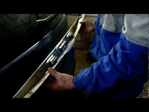 Замена накладки двери багажника