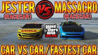 getlinkyoutube.com-GTA 5 Car Vs Car: Jester (Racecar) VS Massacro (Racecar) GTA 5 Festive DLC! Speed Test #CarVersusCar