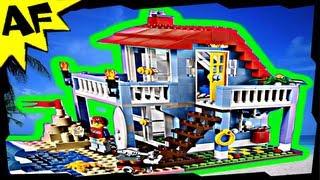 getlinkyoutube.com-Lego City Creator SEASIDE BEACH HOUSE 3-in-1 7346 Stop Motion Build Review