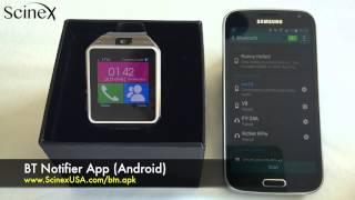 getlinkyoutube.com-Scinex SW10 Smartwatch Instructional Tutorial Step-by-step user Guide