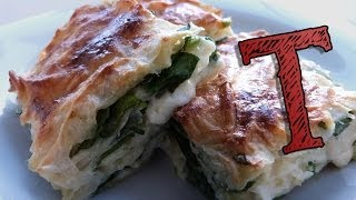 getlinkyoutube.com-Turkish Borek Recipe | Filo Pastry | with Spinach and Cheese