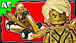 getlinkyoutube.com-Lloyd GOLD NINJA GO-KART Custom Lego Ninjago Build Review 70503 70505 70725