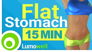 getlinkyoutube.com-15 Minute Flat Stomach Workout. Standing Abs to Reduce Belly Fat