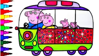 getlinkyoutube.com-Peppa Pig Coloring Book Pages Compilation Kids Fun Art Learning Videos For Disney Brilliant Kids