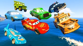 getlinkyoutube.com-Cars Party McQueen King Tow Mater Chick Hicks Sally Sheriff - Videos for Kids Nursery Rhymes Songs