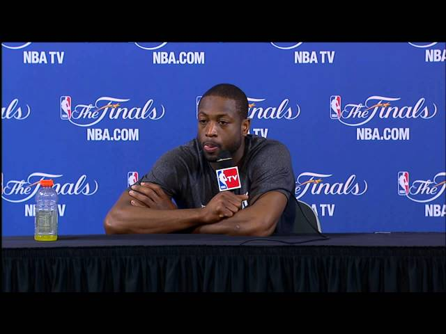 Dwyane Wade NBA Finals Press Conference: LeBron's Performance