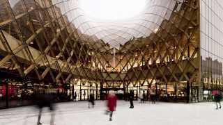 "getlinkyoutube.com-Shopping centre's swooping entrances ""drag people inside"" says architect"